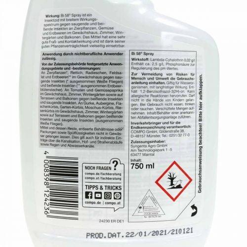 Compo Bi 58 Spray Insektenvernichter 750ml Drinnen & draußen
