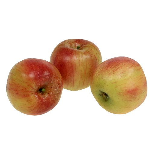 Deko Apfel Ø10cm Rot Gelb 3St