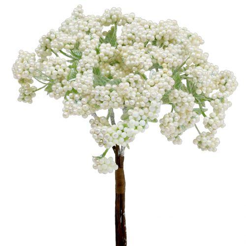 Deko Beerenzweig Weiß 24cm 5St