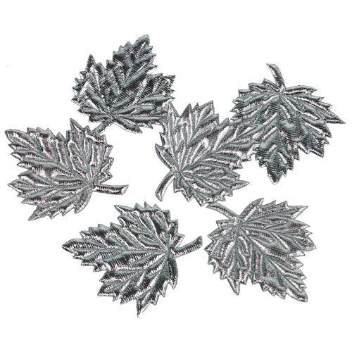 Deko bl tter aus seide 5cm silber 60st preiswert online kaufen for Deko aus silber