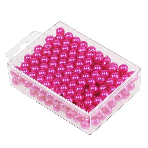 Deko perlen pink 8mm 250st preiswert online kaufen for Pink deko