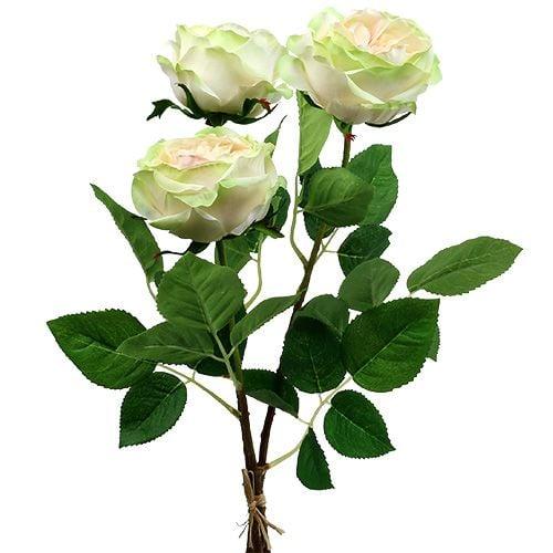 Deko Rose Creme-Rosa Ø10cm 52cm 3St