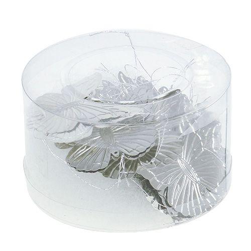 deko schmetterlinge zum h ngen silber 5cm 36st preiswert online kaufen. Black Bedroom Furniture Sets. Home Design Ideas