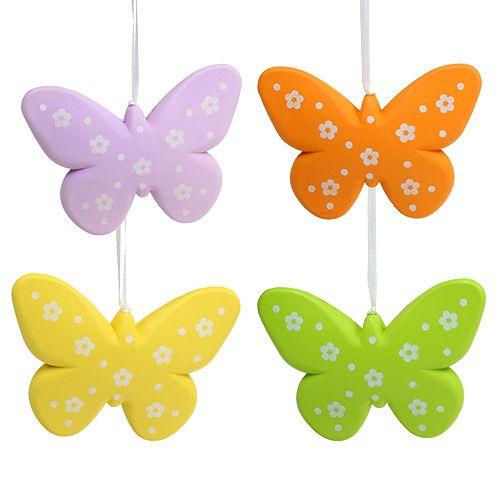 Deko Schmetterlinge bunt 11,5cm 5St