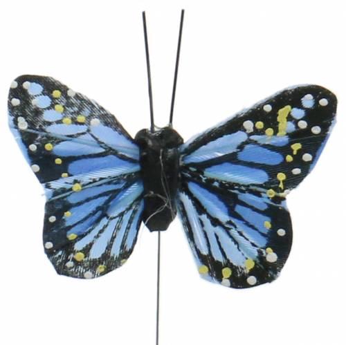 Deko-Schmetterlinge am Draht bunt 5,5cm 24St