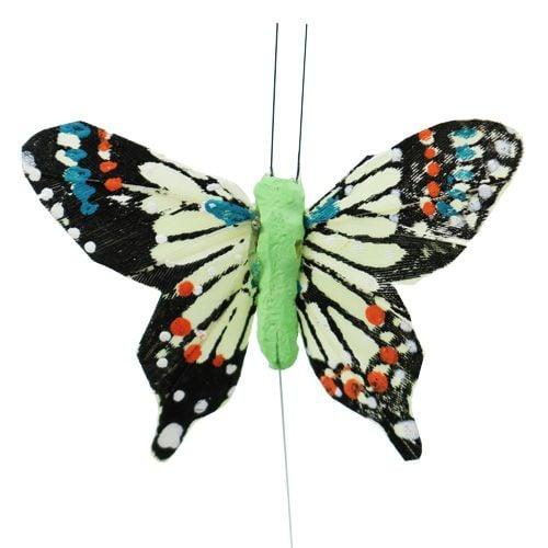Deko-Schmetterlinge bunt sort.6cm 24St