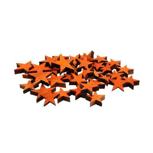 Holzsterne-Mix Orange zum Streuen 3-5cm 72St