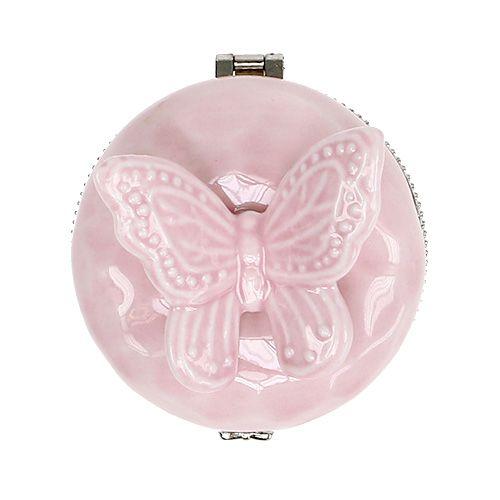 Deko Dose Mit Schmetterling Rosa Ø6cm H6cm Preiswert