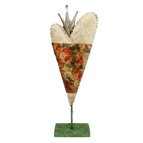 deko herz mit rosenmuster 40cm 1st preiswert online kaufen