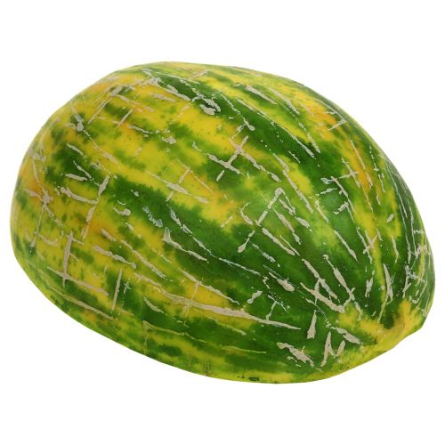 Deko Honigmelone halbiert Orange, Grün 13cm