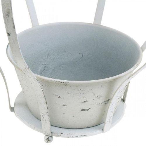 Deko-Krone Weiß Shabby Chic Metall Gartendekoration 3er-Set