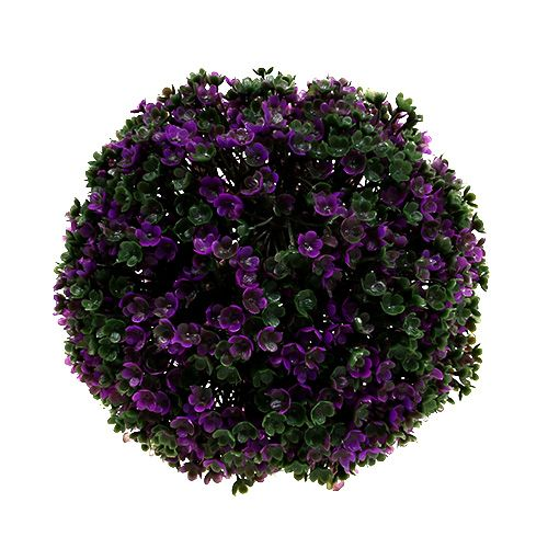 deko kugel lila aus bl ten 18cm 1st preiswert online kaufen. Black Bedroom Furniture Sets. Home Design Ideas