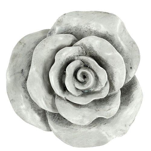 deko rose grau 13cm preiswert online kaufen. Black Bedroom Furniture Sets. Home Design Ideas