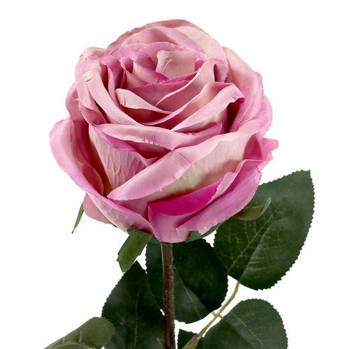 Deko rose gef llt altrosa 10cm l65cm 3st preiswert online for Altrosa deko