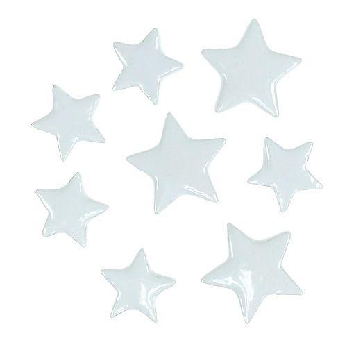 Deko Sterne zum Streuen Weiß 4-5cm 72St