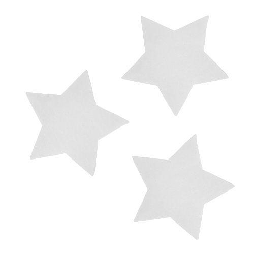Deko-Sterne Weiß 7cm 8St
