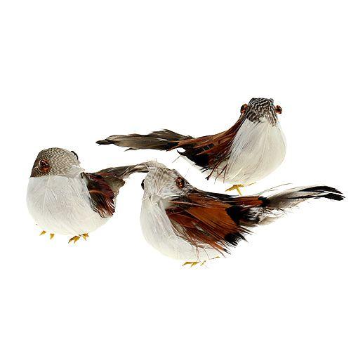 Deko-Vogel am Draht 9cm 16St