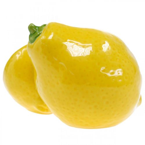 Deko Zitrone Keramik Sommerdeko Tischdeko 11cm