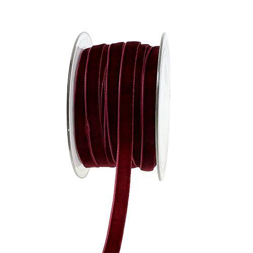 Dekobänder Velvet Bordeaux 10mm 20m