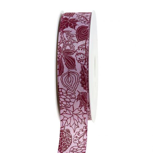 Geschenkband Herbstlaub Lila 25mm 18m