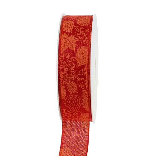 Geschenkband Herbstlaub Rot 25mm 18m