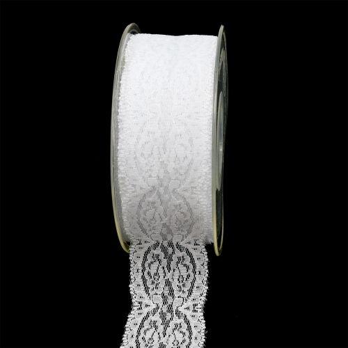 Dekoband Spitze 35mm 20m Weiß
