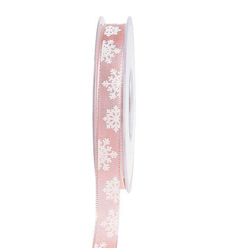 Dekoband mit Drahtkante Rosa 15mm 20m