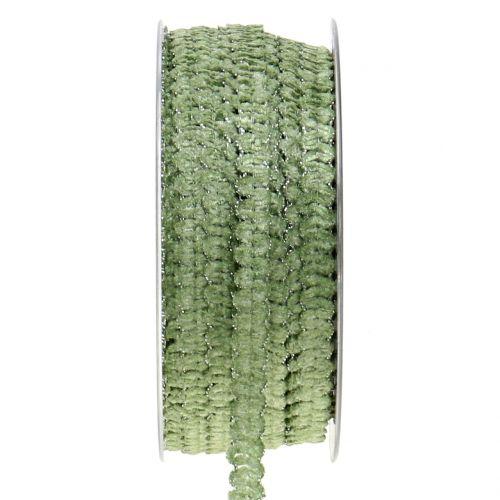 Dekoband Samtoptik Grün 10mm 20m