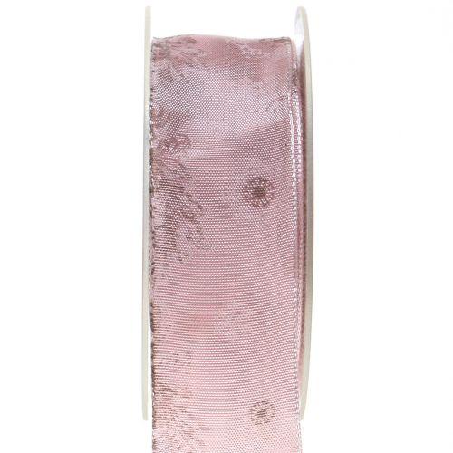Dekoband mit Motiv Rosa 40mm 20m