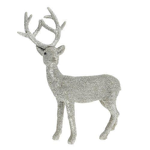 dekofigur hirsch mit glitter b15cm h23 5cm preiswert online kaufen. Black Bedroom Furniture Sets. Home Design Ideas