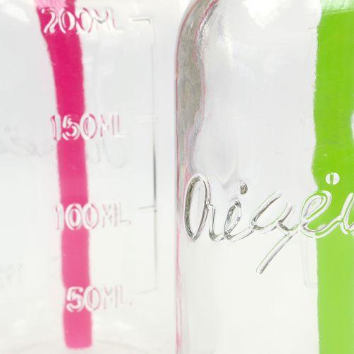 Deko-Flaschen mit Deckel und Strohhalm H14,5cm