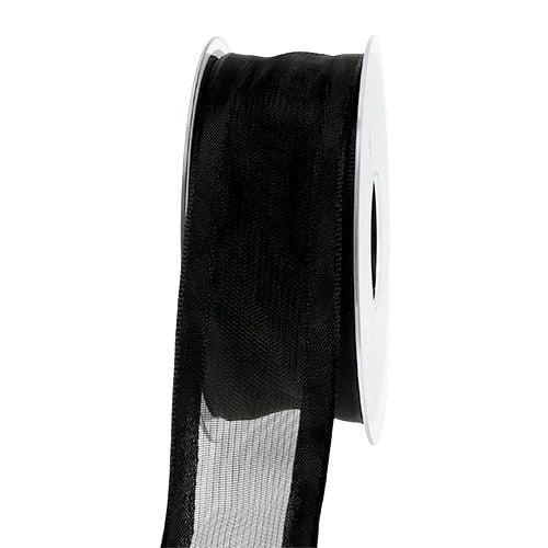 Dekorationsband Schwarz 40mm 25m
