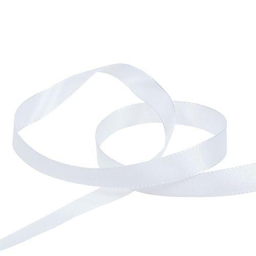 Dekorationsband Weiß 15mm 50m