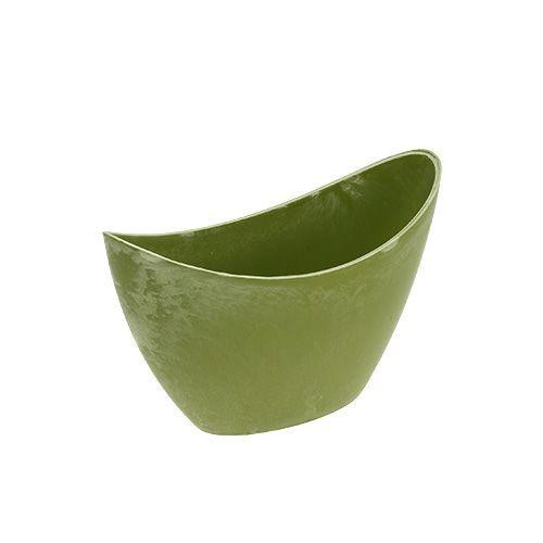 Dekoschale Plastik Hellgrün 20cm x 9cm H11,5cm, 1St