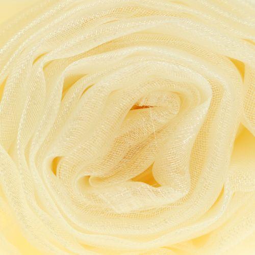Dekostoff Organza Crème 150cm x 300cm