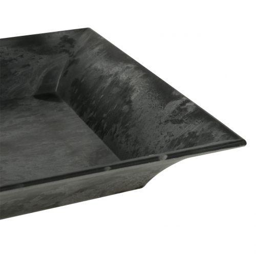 Dekotablett marmoriert Anthrazit 36c x 17cm 6St