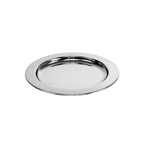 Dekoteller aus Metall Ø10,5cm Silber