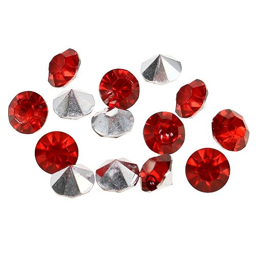 Diamanten Acryl 8mm Rot 50g