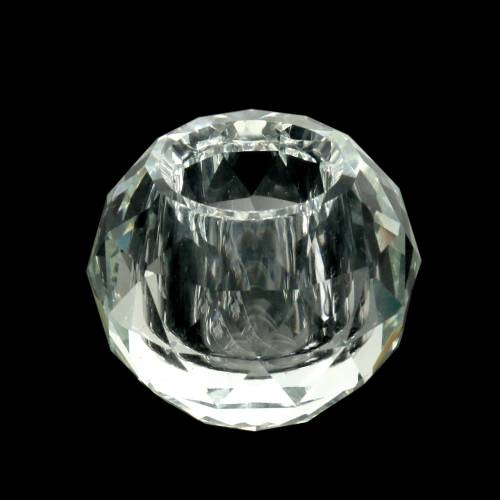 Kerzenhalter Diamant Klar Ø5cm Tischdeko