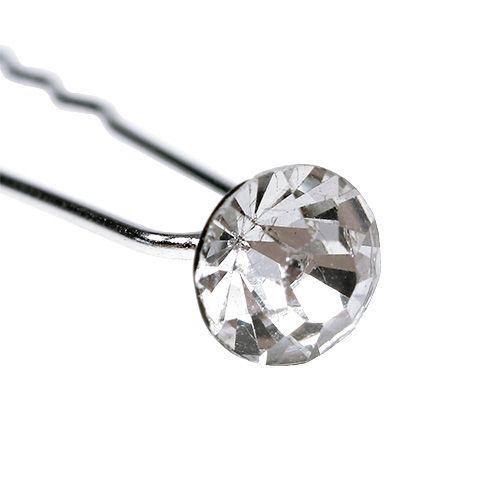 Diamantnadel Hochzeit Silber Ø8mm L7cm 20St