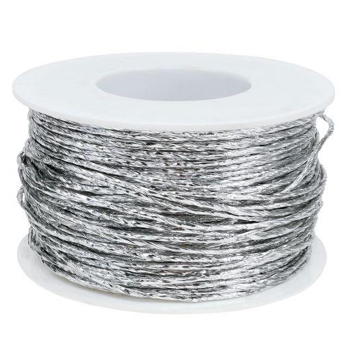 Draht umwickelt Silber Ø2mm 100m
