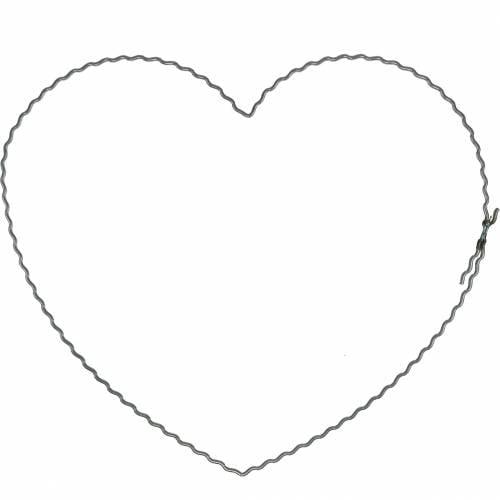 Drahtherzen 20cm Wellenringe Kranzreifen Herz 10St