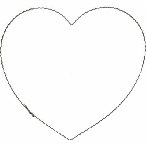 Drahtherz 30cm Wellenring für Wandkranz Kranzreif Herz 10St