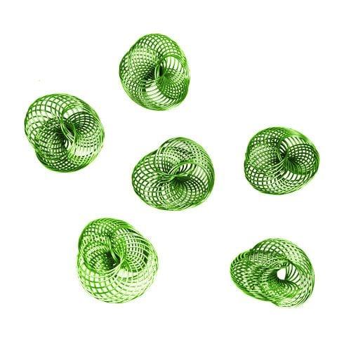 Drahträder Apfelgrün Ø4,5cm 6St