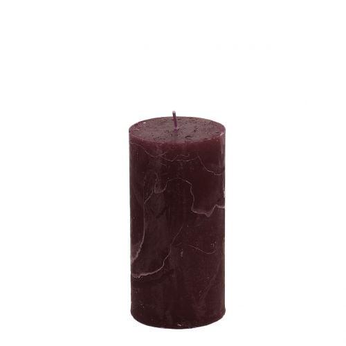 Durchgefärbte Kerzen Burgund 50x100mm 4St