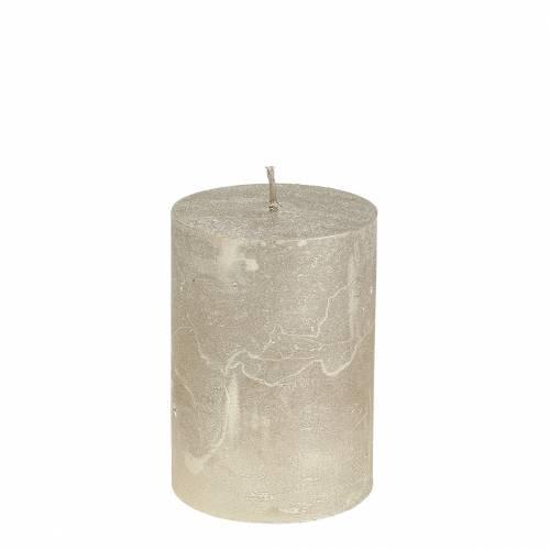 Durchgefärbte Kerzen Platin 70x100mm 4St