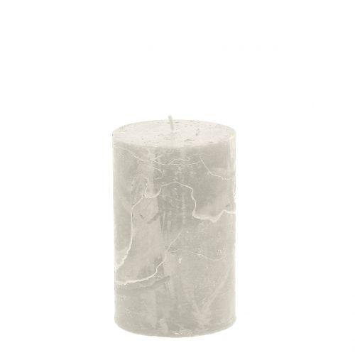 Durchgefärbte Kerzen Grau 60x100mm 4St