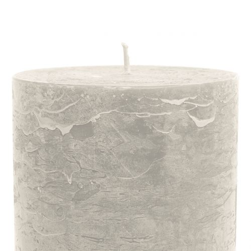 Durchgefärbte Kerzen Grau 85x150mm 2St