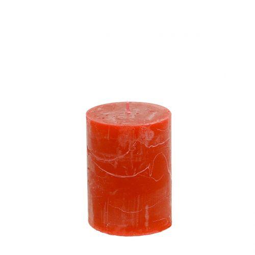 Durchgefärbte Kerzen Orange 60x80mm 4St