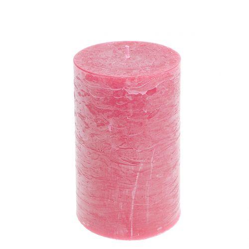 Durchgefärbte Kerzen Rosa 85x150mm 2St